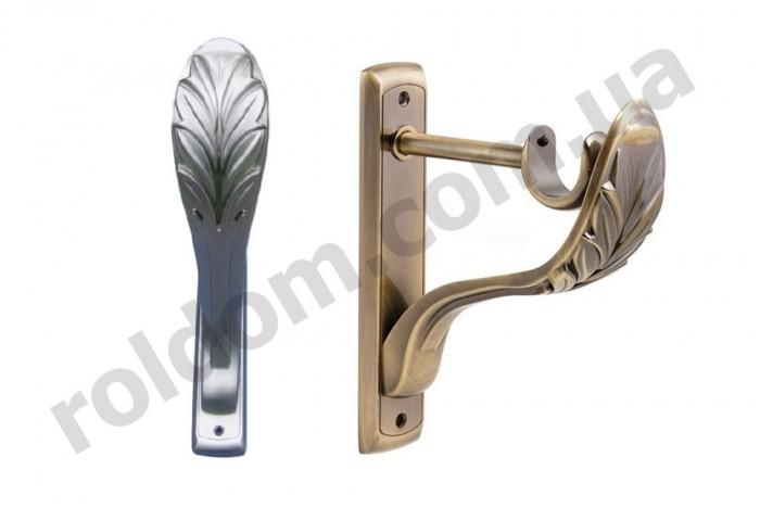 Кронштейн одинарный Ретро для кованого карниза 25 мм